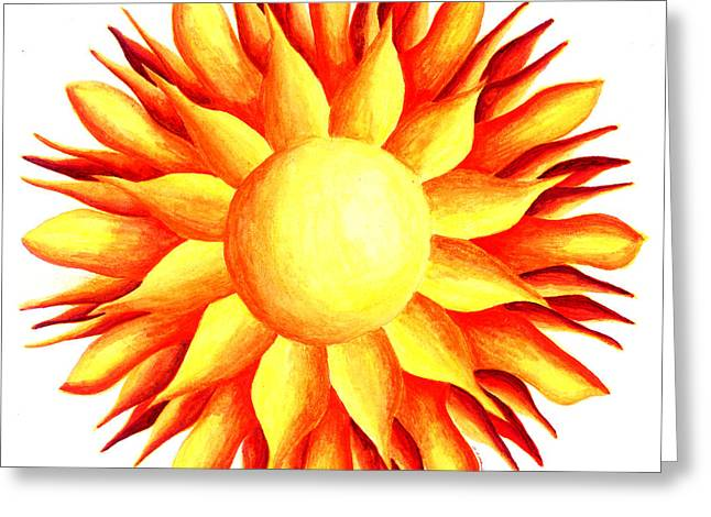 Bowling For Sunshine Greeting Card by Maureen Frank The Mandala Lady