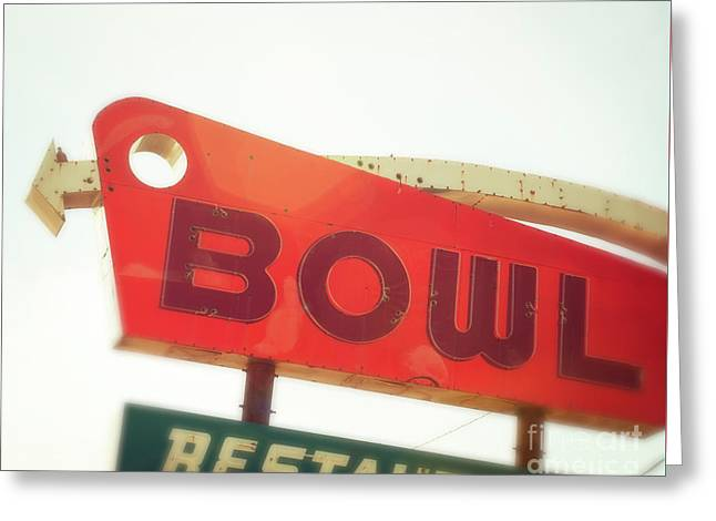 Bowling Here Greeting Card