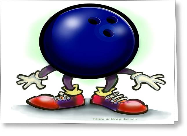 Bowling Greeting Card by Kevin Middleton