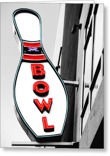 Bowling Greeting Card by Steven Michael