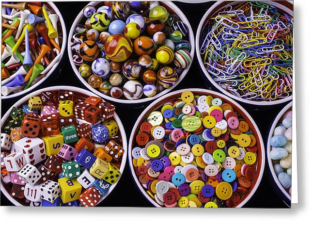 Bowls Full Of Things Greeting Card by Garry Gay