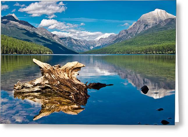 Bowman Lake 1, Glacier Nat'l Park Greeting Card