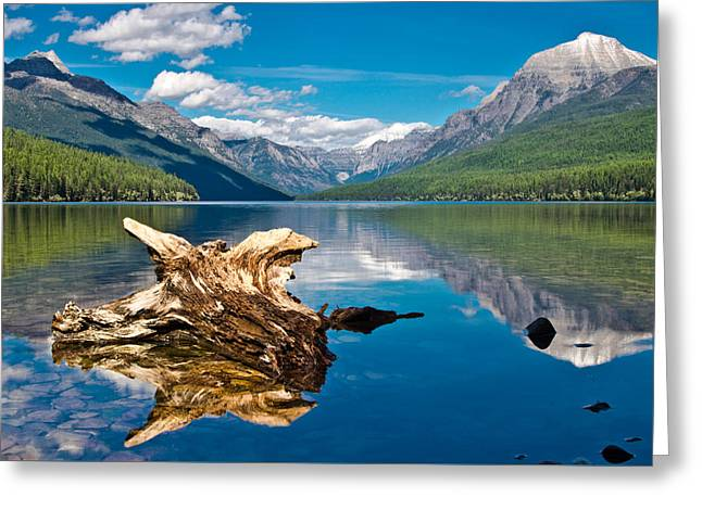 Bowman Lake 1, Glacier Nat'l Park Greeting Card