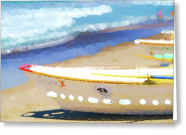 Bows Out   Lifeboat Watercolor Greeting Card