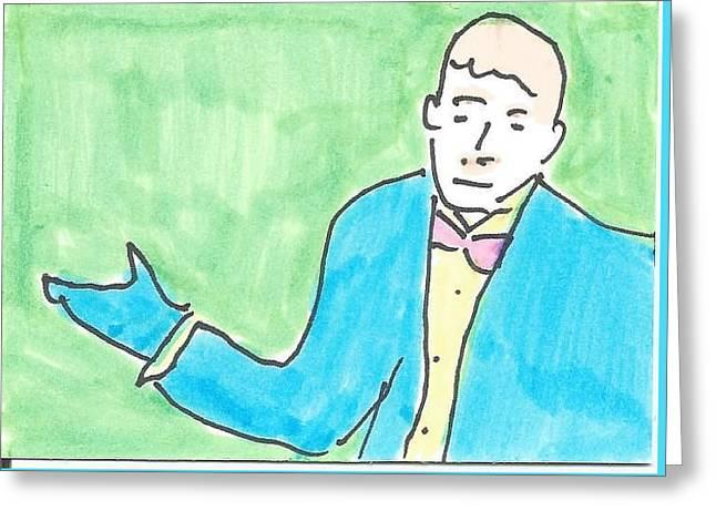 Bowtie Man Greeting Card