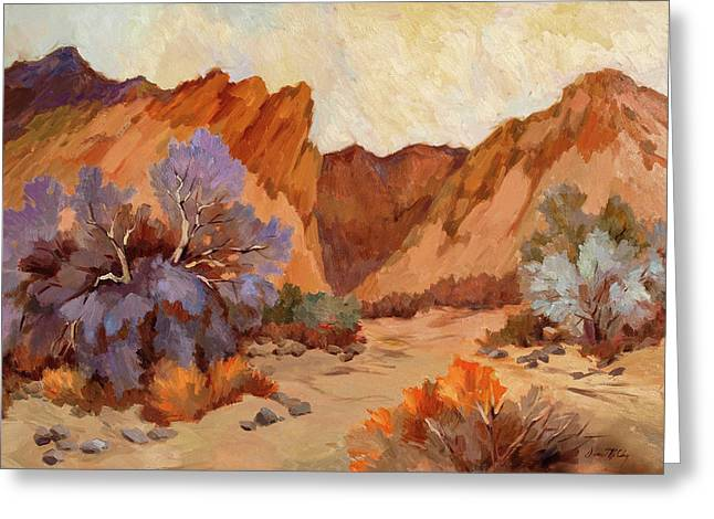 Impressionism Greeting Cards - Box Canyon Greeting Card by Diane McClary