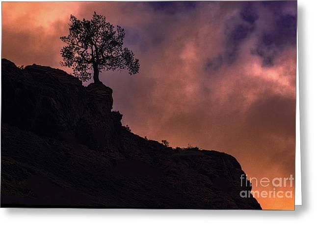 Box Canyon Sunset Greeting Card
