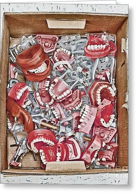 Box Of Dental Equipment Greeting Card by Skip Nall