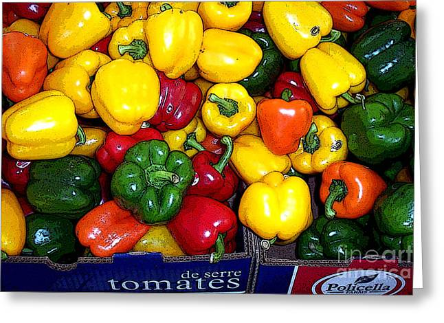 Box Of Peppers Greeting Card