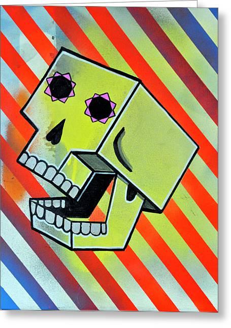 Box Skull Greeting Card