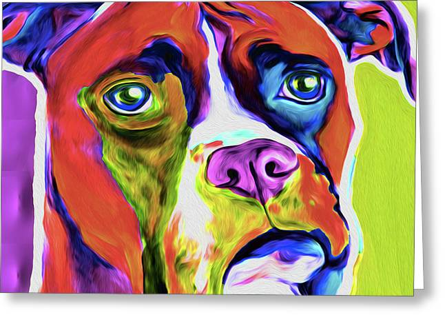 Boxer 5a By Nixo Greeting Card
