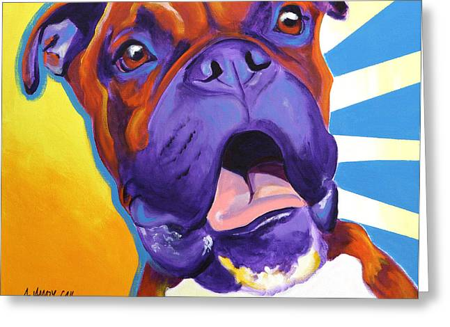 Boxer - Chance Greeting Card by Alicia VanNoy Call