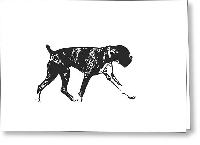 Boxer Dog Tee Greeting Card