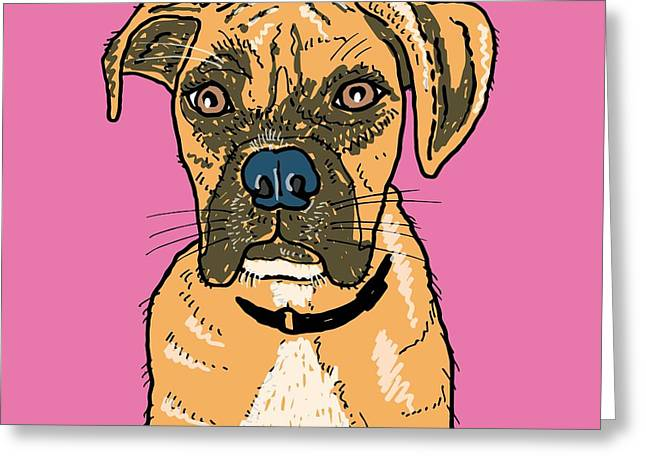 Boxer Greeting Card by Pets Portraits