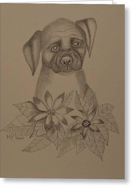 Boxer Pup 16-01 Greeting Card