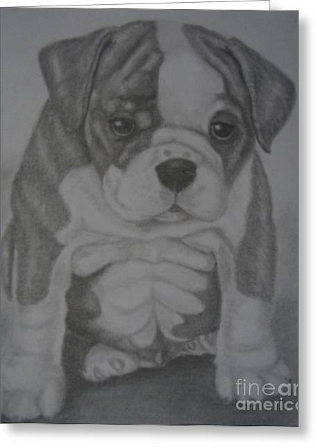 Boxer Puppy Greeting Card by Ian Lennox