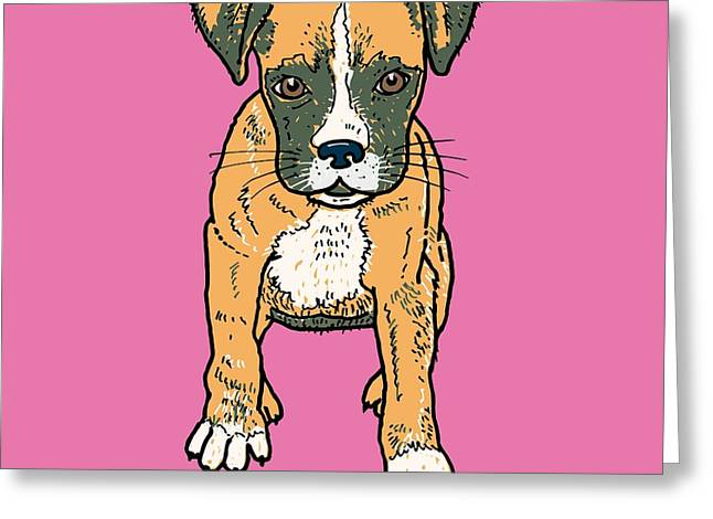 Boxer Puppy Greeting Card by Pets Portraits