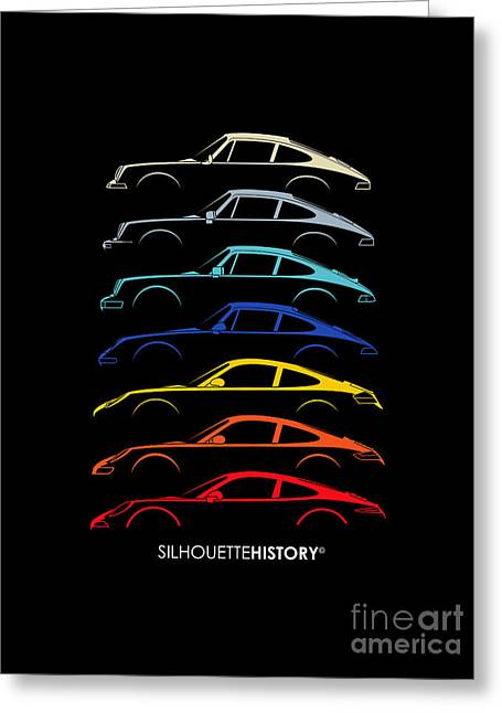 Boxer Sports Car Silhouettehistory Greeting Card