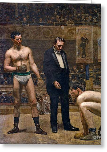 Boxers 1898 Greeting Card by Padre Art