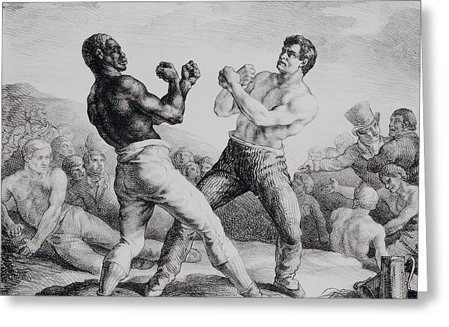Boxers Greeting Card by Theodore Gericault