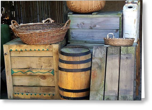 Boxes And Baskets Greeting Card by Emily Kelley