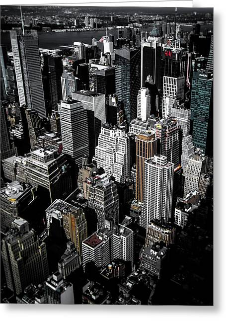 Boxes Of Manhattan Greeting Card by Nicklas Gustafsson
