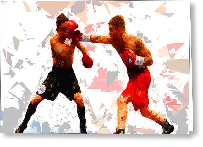 Greeting Card featuring the painting Boxing 113 by Movie Poster Prints