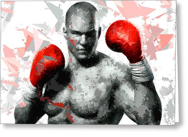 Greeting Card featuring the painting Boxing 114 by Movie Poster Prints
