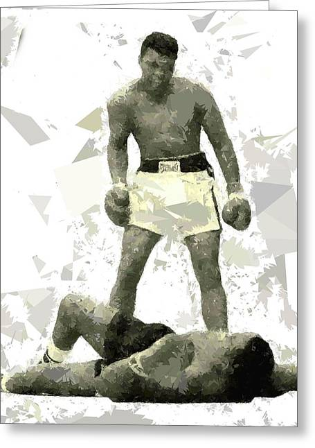 Greeting Card featuring the painting Boxing 115 by Movie Poster Prints