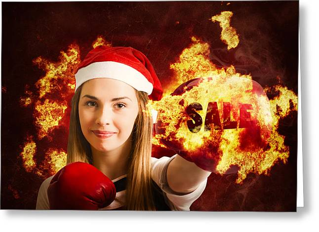 Boxing Day Sale Greeting Card by Jorgo Photography - Wall Art Gallery