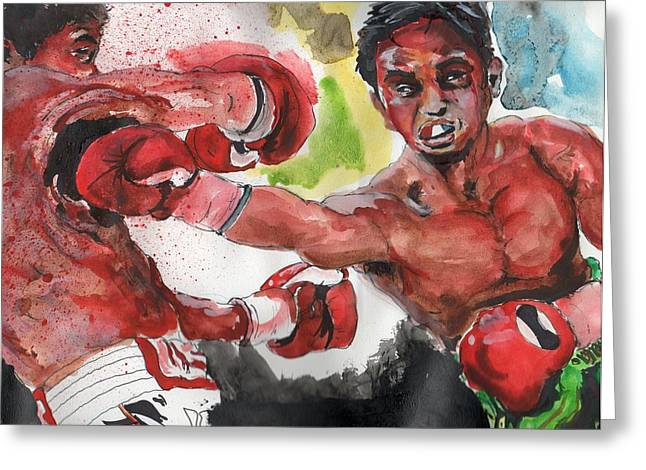 Boxing Fury Greeting Card