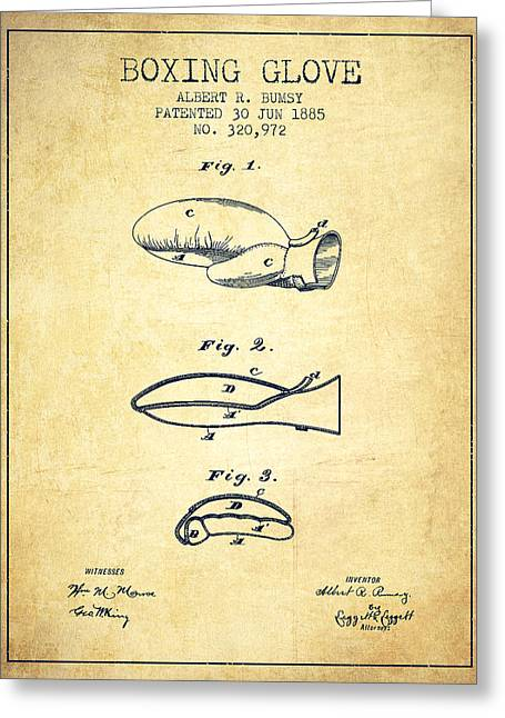 Boxing Glove Patent From 1885 - Vintage Greeting Card by Aged Pixel