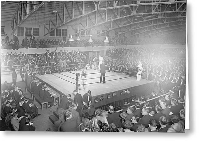 Boxing Match In 1916 Greeting Card by American School