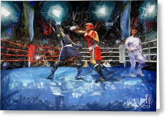 Boxing Night Greeting Card by Murphy Elliott