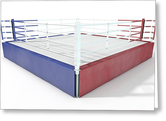 Boxing Ring Modern Isolated Greeting Card