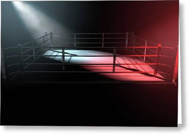 Boxing Ring Opposing Corners Greeting Card