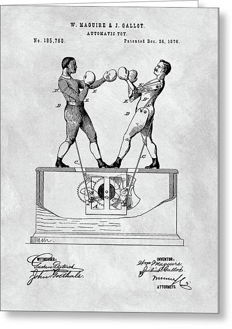 Boxing Toy Patent  Greeting Card
