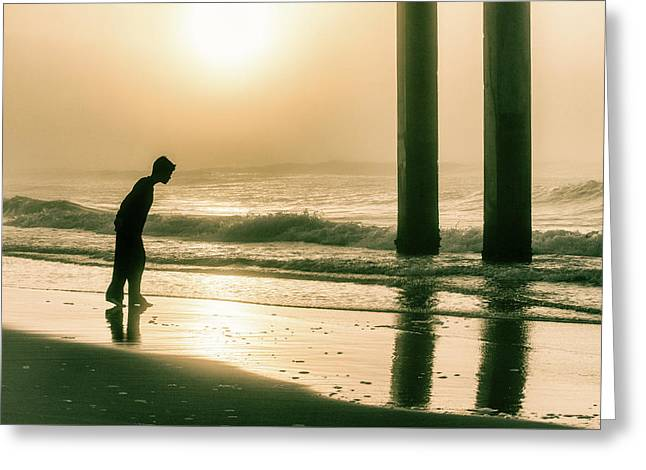 Greeting Card featuring the photograph Boy At Sunrise In Alabama  by John McGraw