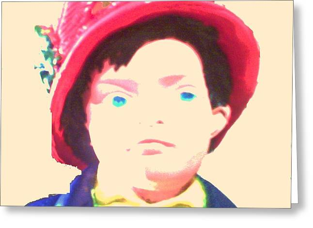 Etc. Drawings Greeting Cards - Boy Blue Greeting Card by HollyWood Creation By linda zanini