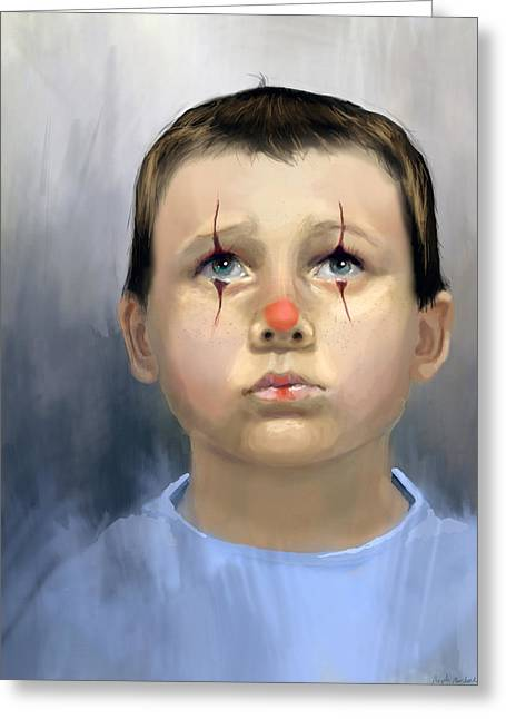 Boy Clown Greeting Card