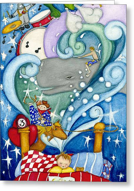 Recently Sold -  - Knights Castle Greeting Cards - Boy Dreaming Greeting Card by Barbara Esposito