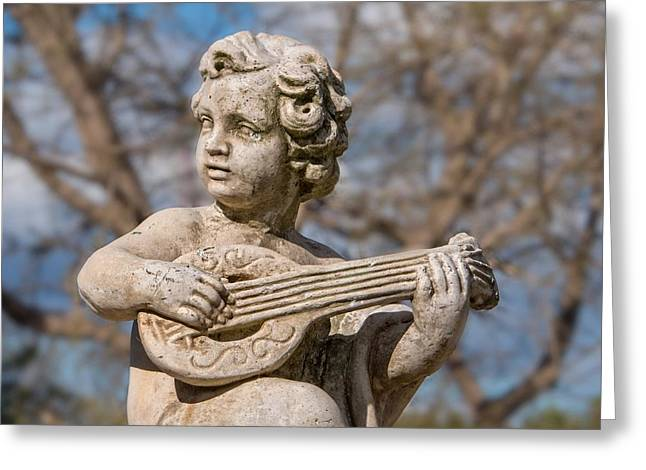 Boy Lute Statue Greeting Card by Billy Soden