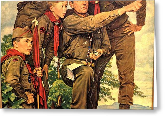 Boy Scout Poster 50's Greeting Card