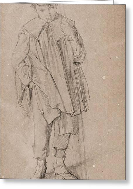 Boy Standing Greeting Card by Bartonek