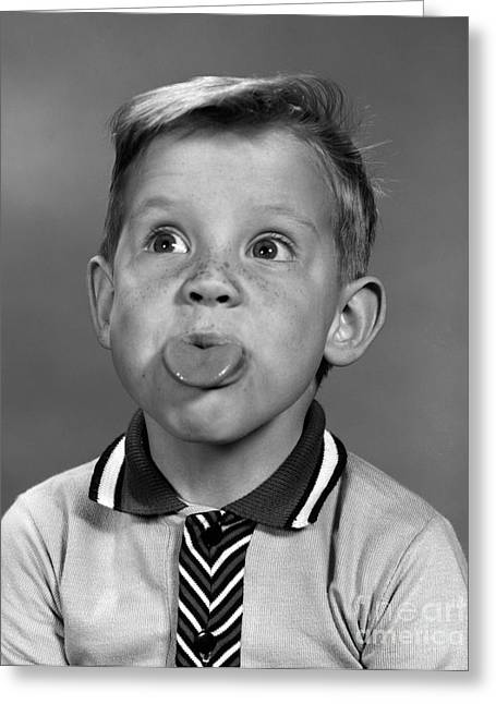 Boy Sticking Out His Tongue, C.1960s Greeting Card by H. Armstrong Roberts/ClassicStock
