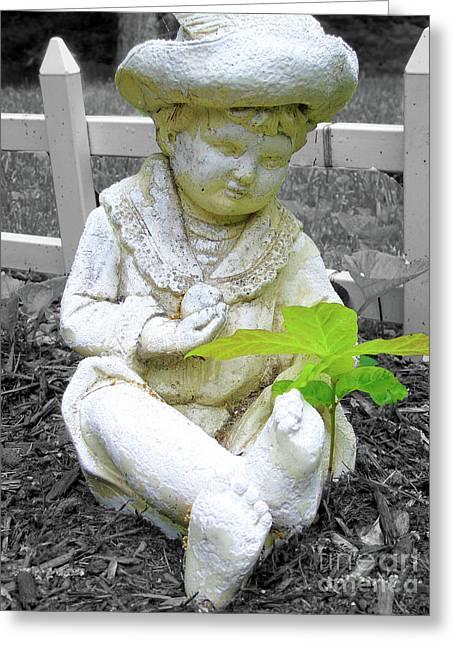 Boy Greeting Card by Susan Lafleur