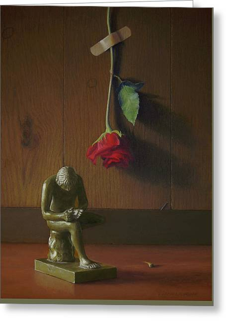 Boy With Thorn Spinario Greeting Card by Barbara Groff