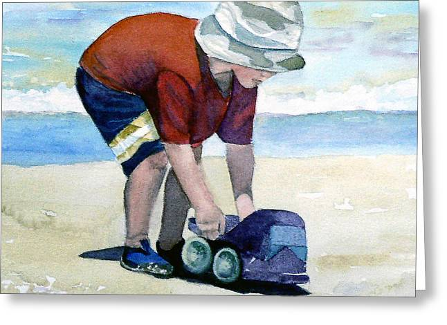 Boy With Truck Greeting Card