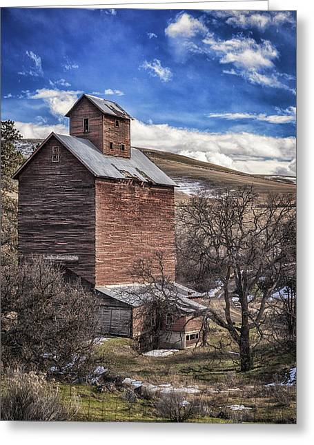 Greeting Card featuring the photograph Boyd Flour Mill by Cat Connor