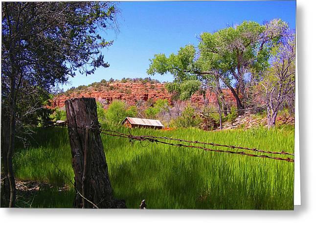 Boynton Canyon Arizona Greeting Card by Jen White